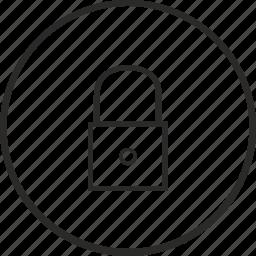 closed, door, secret, security icon