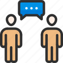 communication, conversation, dialogue, discussion, interview, people, talk icon