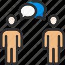 communication, conversation, dialogue, discussion, people, question, talk