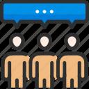 communication, conversation, dialogue, discussion, people, talk