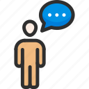ask, communication, conversation, discussion, people, question, talk icon