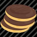butterscotch truffles, chocolate biscuit, creamed cookie, dessert, praline icon