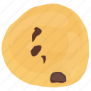 biscuit, chocolate chunk cookie, confectionery, patty, peanut butter cookie icon