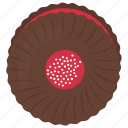 hallongrotta, jam biscuit, jam cookie, raspberry jam cookie, strawberry sandwich cookie icon