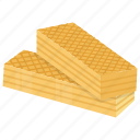confectionery, crunchy cookie, gastronomy, wafers, wafers biscuit icon