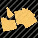 bakery food, biscuit crumbs, broken cookies, cracker pieces, crackers icon
