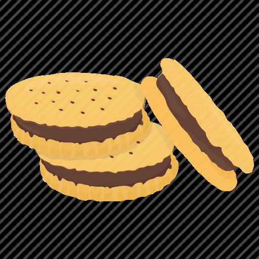 chocolate cookie, dessert, sandwich biscuit, sandwich cookie, snack icon