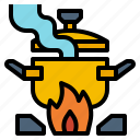 boil, cook, cooking, kitchen, pot icon