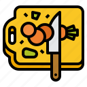 board, chop, cook, cut, cutting