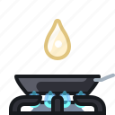burner, cooking, frying, kitchen, oil, pan, yumminky icon