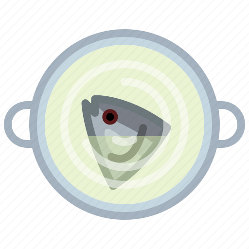cooking, fish, food, kitchen, pot, soup, yumminky icon