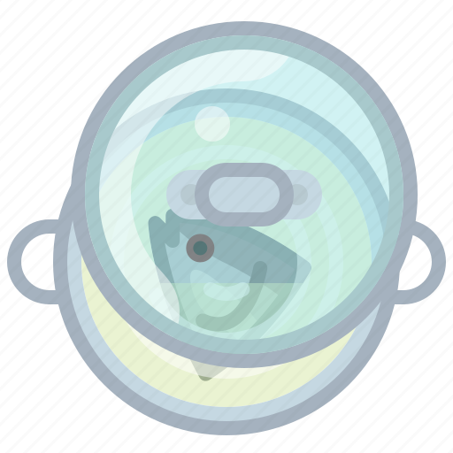 cooking, fish, kitchen, lid, pot, soup, yumminky icon