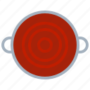 cooking, food, kitchen, pot, soup, tomato, yumminky icon