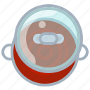 cooking, kitchen, lid, pot, soup, tomato, yumminky icon