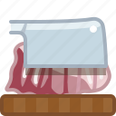 axe, chopping board, cooking, cutting, kitchen, meat, yumminky icon