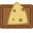cheese, chopping board, cooking, cutting, food, kitchen, yumminky icon