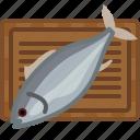 chopping board, cooking, fish, kitchen, meat, tuna, yumminky icon