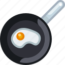 breakfast, cooking, eye, food, frying, pan, yumminky icon
