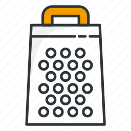 cheese, cooking, grate, grating, kitchen, utensil icon