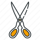 cut, cutting, kitchen, scissors, utensil icon