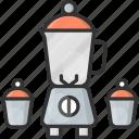 food, kitchenware, mixer icon