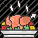 chicken, cooking, dinner, food, roast chicken, turkey