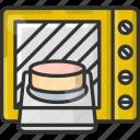 bake, baker, bakery, baking, cake, microwave oven