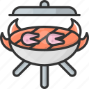 barbecue, cooking, fish, food, grill
