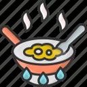 egg, eggs, food, fried, pan