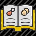 chicken, food, ingredients, recipe book