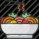 bowl, chinese food, noodle, noodle bowl, noodles icon
