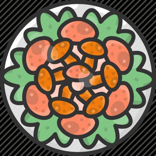 Food, meal, mushroom, plate icon - Download on Iconfinder