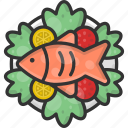 fish, food, fried fish, fry, healthy food icon