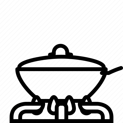 burner, cooking, frying, lid, pan, wok, yumminky icon