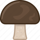 cooking, food, forest, gastronomy, ingredient, mushroom, yumminky icon