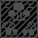 food, fungus, mushroom, nature icon