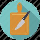 board, cutting, equipment, household, kitchen, knife
