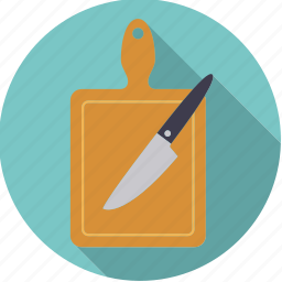 board, cutting, equipment, household, kitchen, knife icon