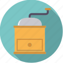 coffee, equipment, grinder, household, kitchen icon