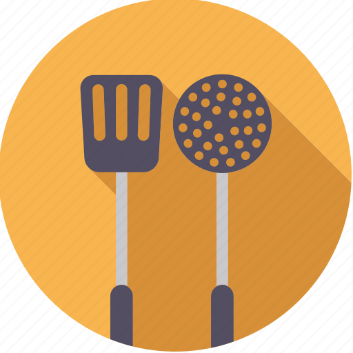 cooking, equipment, kitchen, ladle, spatula, utensil icon
