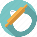 baking, dough, equipment, household, kitchen, rolling pin, utensil icon