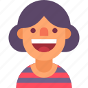 avatar, funny, happy, neighbor, positive, smile, woman icon