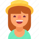 avatar, girl, happy, hat, romantic, sweet, woman icon