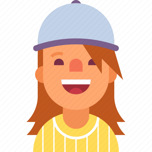 avatar, baseball, cap, cheerleader, girl, sport, woman icon