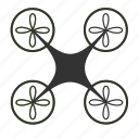 copter, delivery, drone, flight, nanocopter, quadcopter icon
