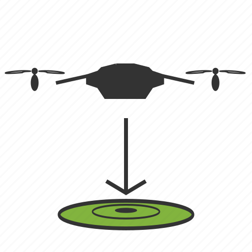 copter, down, drone, fit, landing, quadcopter icon