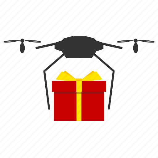 copter, delivery, gift, nanocopter, quadcopter icon