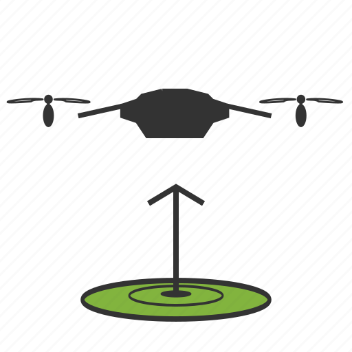 copter, drone, nanocopter, quadcopter, takeoff icon