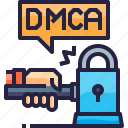 auction, dmca, hammer, judgment icon
