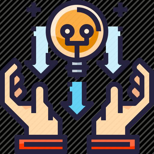 Creative, creativity, design, idea, light, thinking icon - Download on Iconfinder